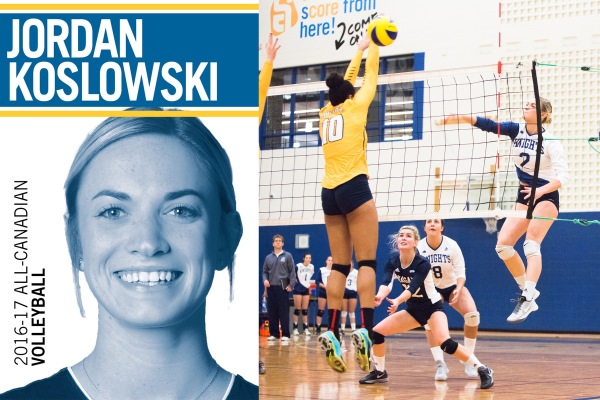 Alumni Jordan Koslowski Named CCAA All-Canadian