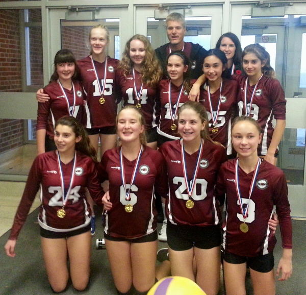 MVC 14U Teams place 1- 2 in King City MYVB Tournament